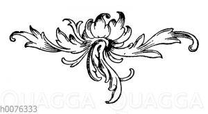 Vignette: florales Ornament