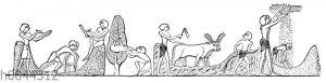 Altägyptische Ernteszene