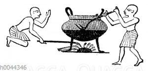 Kochen von Fleisch im alten Ägypten