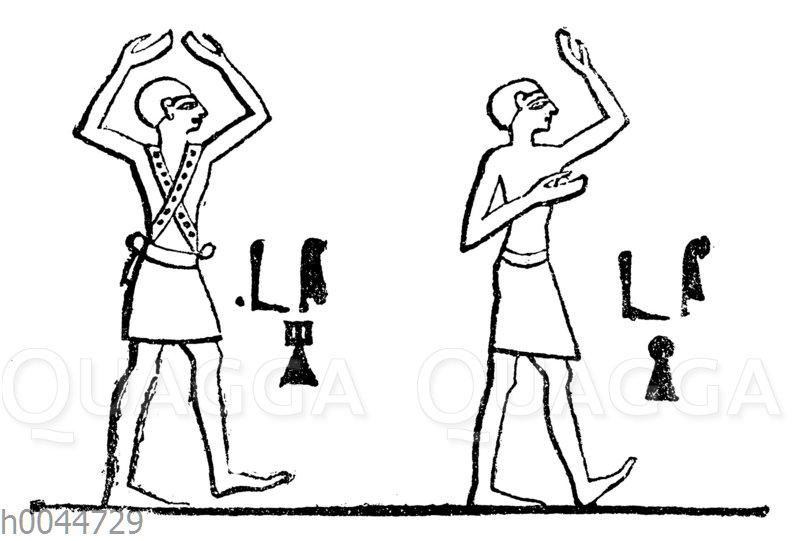 Tanzende Männer im alten Ägypten