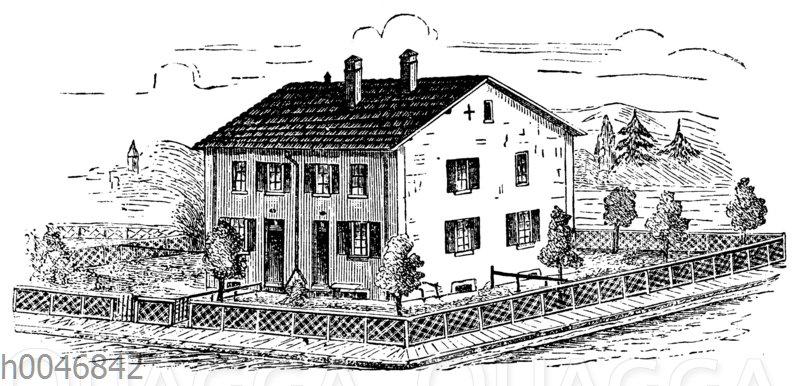 Arbeiterhaus in Mülhausen im Elsass