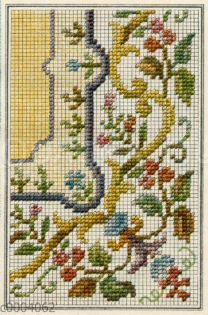 Stickmuster florales Design