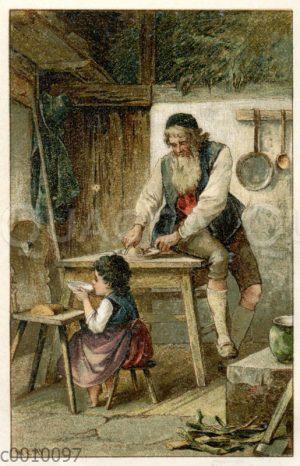 Heidi bei ihrem Großvater