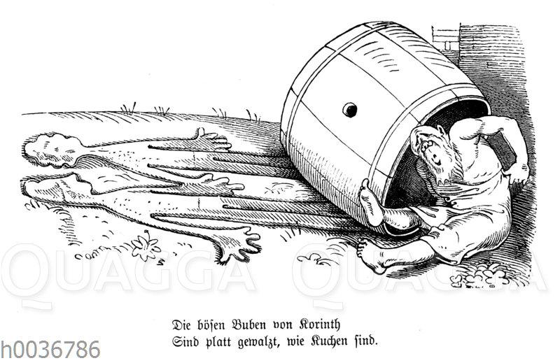 Wilhelm Busch: Diogenes und die bösen Buben von Korinth