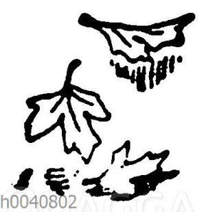 Vignette: Fallende Blätter