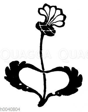 Vignette: Blumenornament