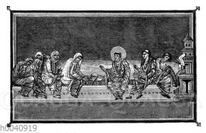 Vornehme Frauen und Geistliche im neunten Jahrhundert