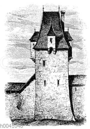 Turm in Budweis in Böhmen