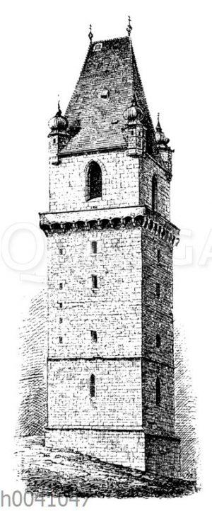 Turm zu Bertholdsdorf in Niederösterreich
