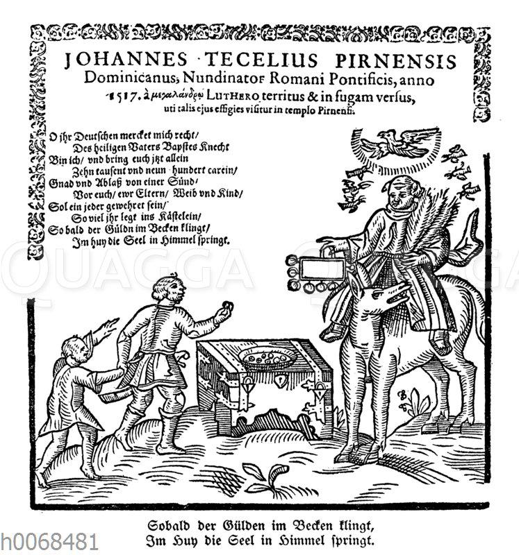 Berühmtes Flugblatt über den Ablaßkrämer Johannes Tetzel