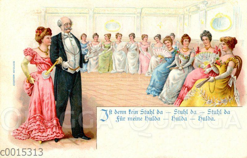 Vater geleitet Tochter in den Ballsaal