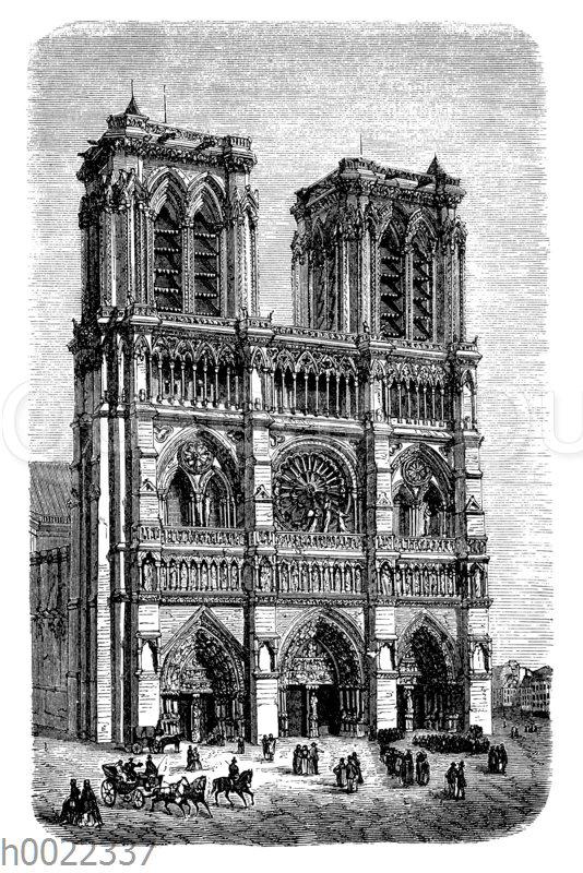 Westansicht von Notre-Dame in Paris