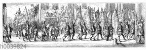 Feierliche Überführung der in der Schlacht bein Lens erbeuteten spanischen Fahnen nach Notre Dame zu Paris