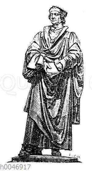Statue Johannes Reuchlin vom Lutherdenkmal
