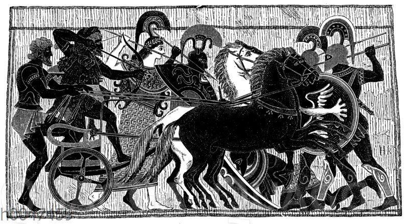Pallas Athene als Vorkämpferin der hellenischen Helden