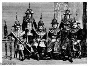 Die birmanische Gesandtschaft in Kalkutta (1882)