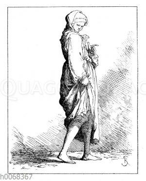 Herumvagabundierende Dirne aus dem 16. Jahrhundert