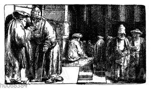 Juden in der Synagoge zu Amsterdam