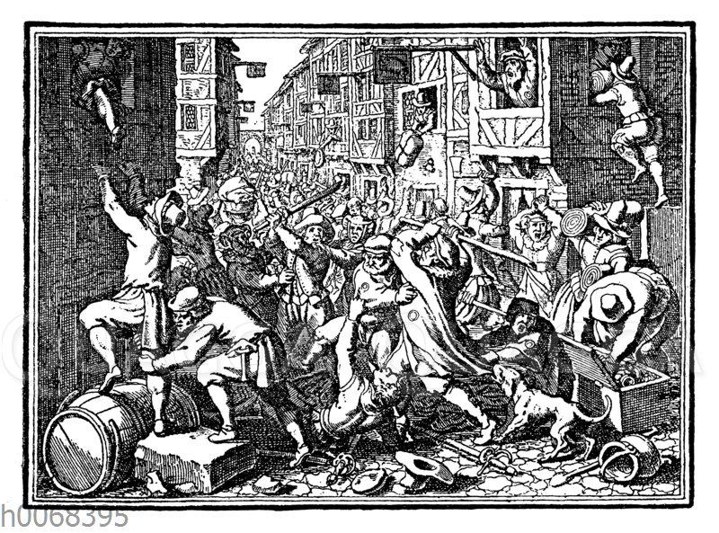 Plünderung der Judengasse zu Frankfurt am Main im Jahre 1614