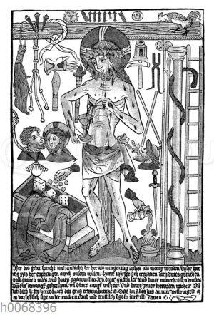 Ablassplakat aus dem 15. Jahrhundert