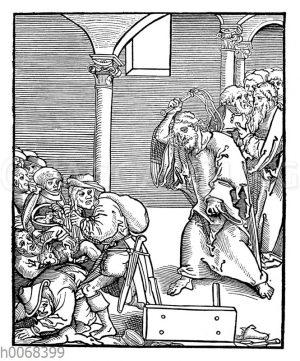Jesus Christus treibt die Wucherer aus dem Tempel