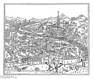 Die älteste malerische Ansicht Roms