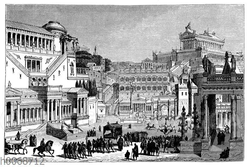 Forum Romanum und Capitol in Rom