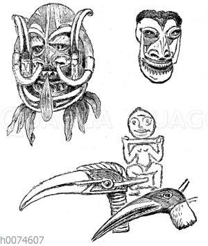 Tanz-Masken aus Neubritannien