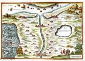 Carte de Tendre (Landkarte der Liebe) aus dem Roman 'Clélie'