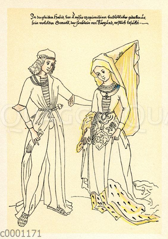 Maximilian I. und seine Braut Maria von Burgund