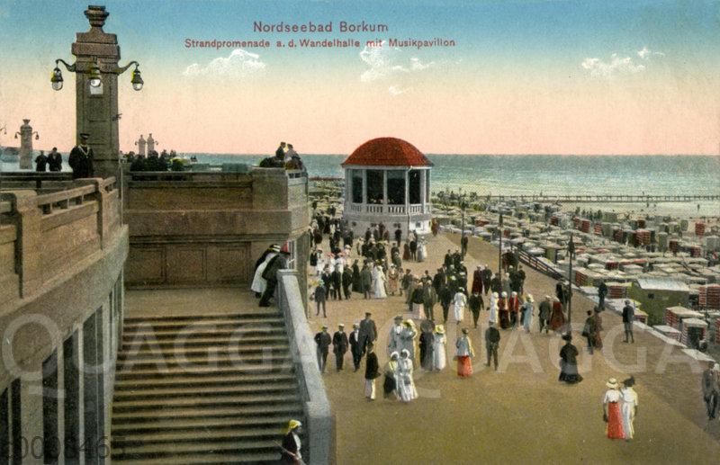 Nordseebad Borkum: Strandpromenade