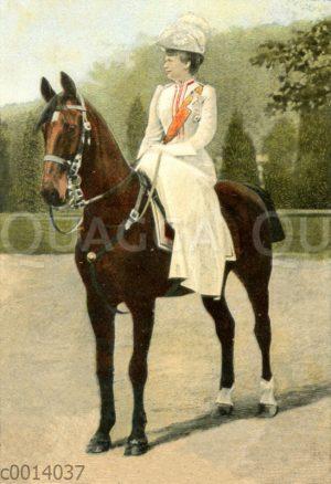 Kaiserin Augusta zu Pferd