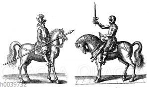 Lanzenreiter und Kürassier aus der Zeit des Dreißigjährigen Krieges