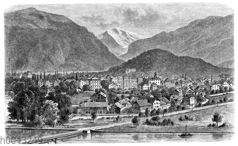 Blick auf die Jungfrau von Interlaken aus gesehen