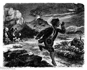 Robinson Crusoe und der feuerspeiende Berg