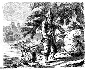 Robinson Crusoe als Fischer