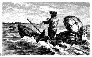 Robinson Crusoe sehnt sich nach seiner Insel
