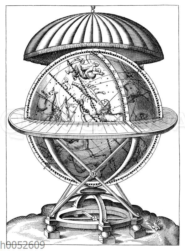 Himmelsglobus aus dem Jahre 1584