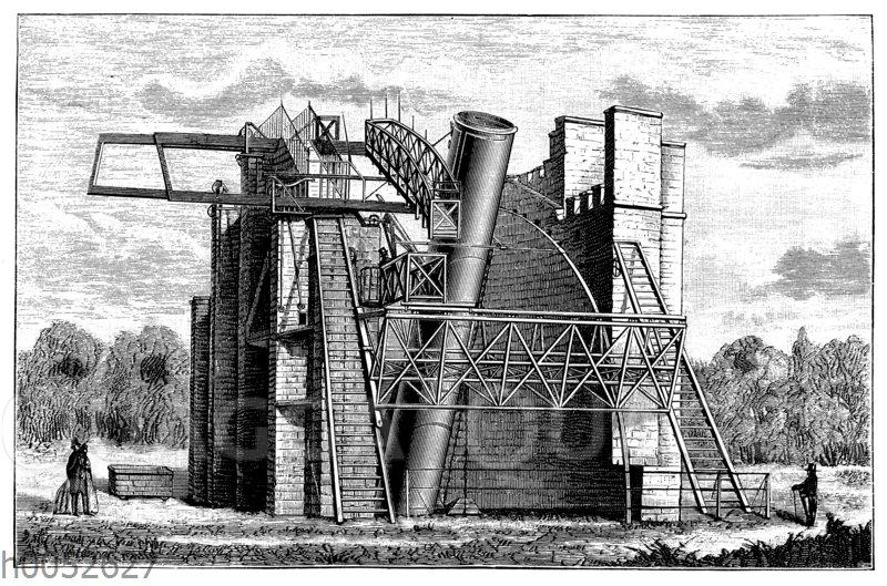 Lord Rosses Riesenteleskop zu Parsonstown bei Dublin