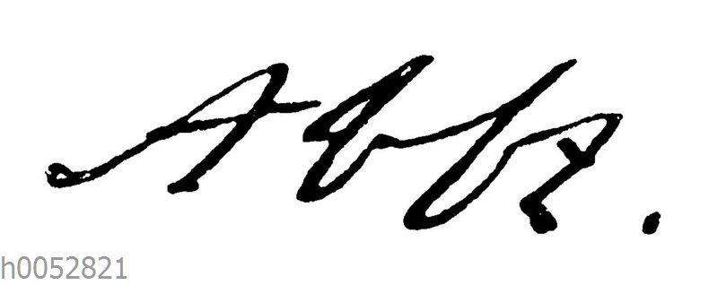 Thomas Abbt: Autograph