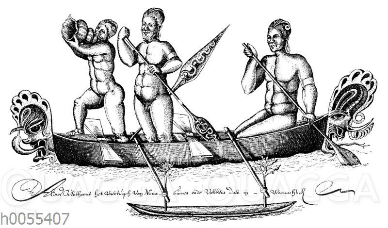 Eingeborene von der Fischer-Insel im nordöstlichen Bismarck-Archipel