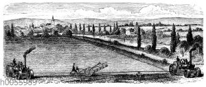 Dampfpflug: Zweimaschinensystem