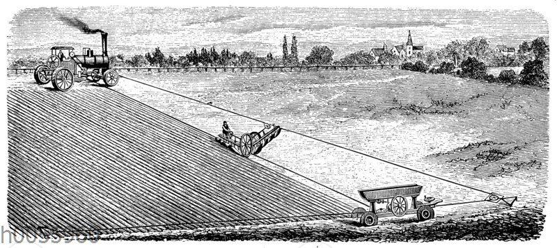 Dampfpflug: Einmaschinensystem
