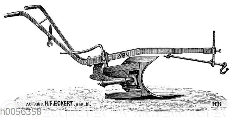 Wendepflug mit einem Pflugkörper von H.F. Eckert