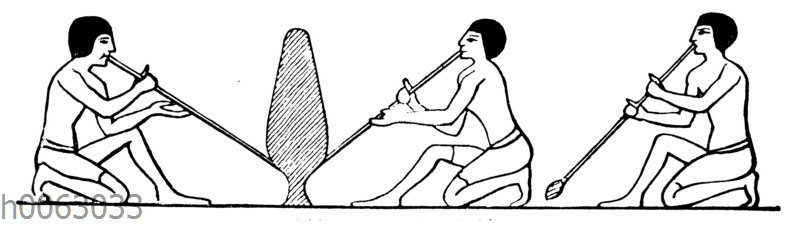 Glasbläser aus Beni-Hassan im alten Ägypten