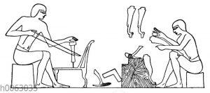Stuhlmacher im alten Ägypten