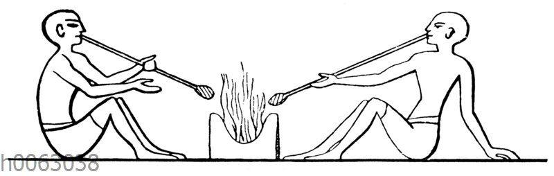 Glasbläser aus Theben im alten ägypten