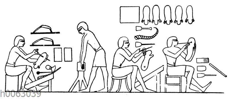 Schuhmacher im alten Ägypten