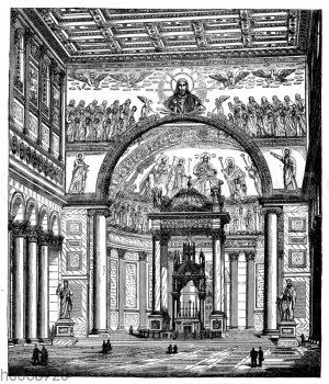 Apsis der Basilika von St. Paul vor den Mauern