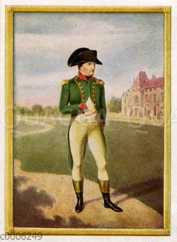 Napoleon I. Bonaparte. Nach einer Miniatur von Jean-Baptiste Isabey